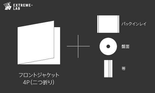 CDプレス|ジュエルケース:4P(二つ折り)