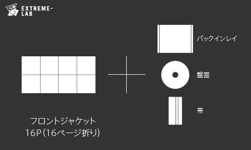 CDプレス|ジュエルケース:16P折り
