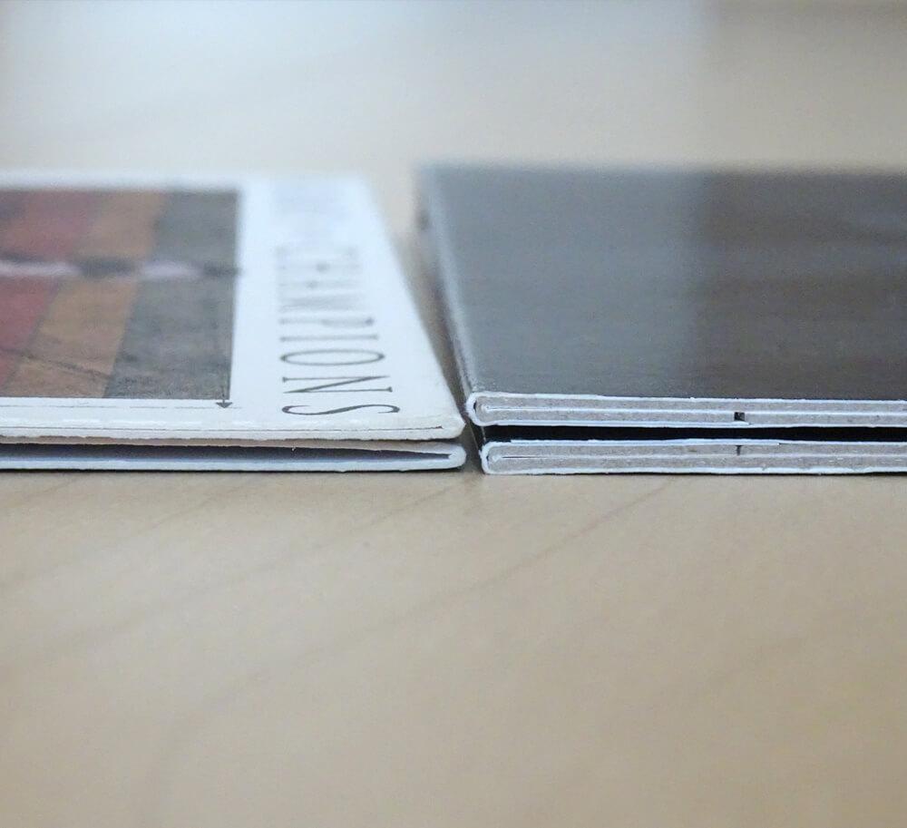 紙ジャケット:E式とA式_紙厚の比較